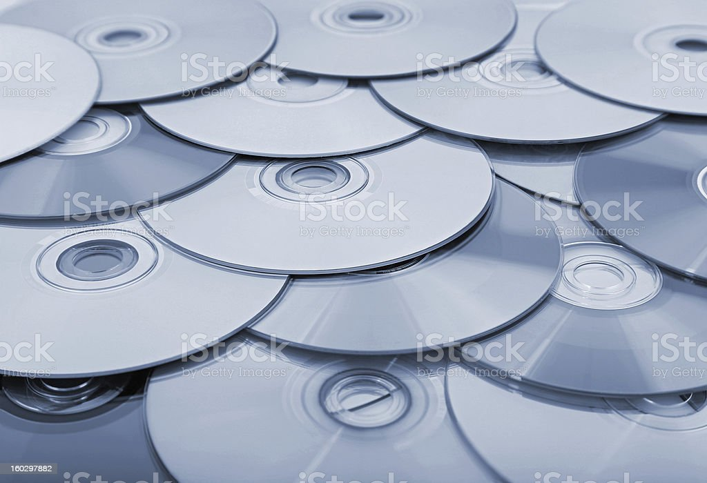 compact discs royalty-free stock photo