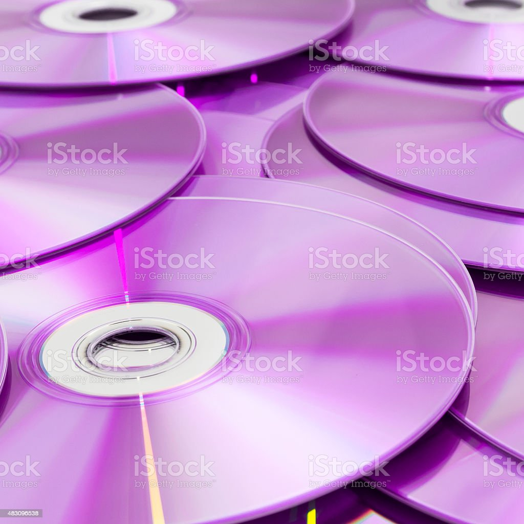 Compact disk isolated on white background stock photo