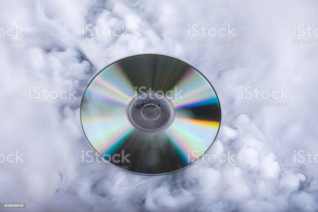 Compact disk. Soundcloud. Conceptual image stock photo