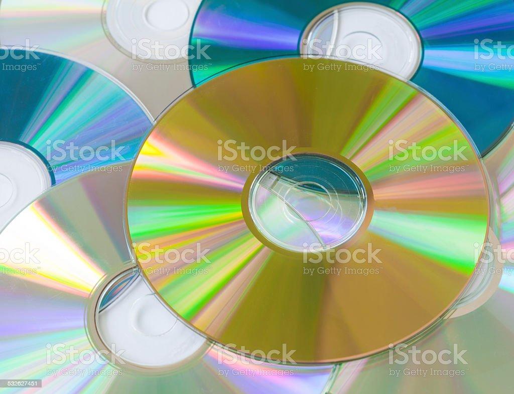 Compact disks stock photo