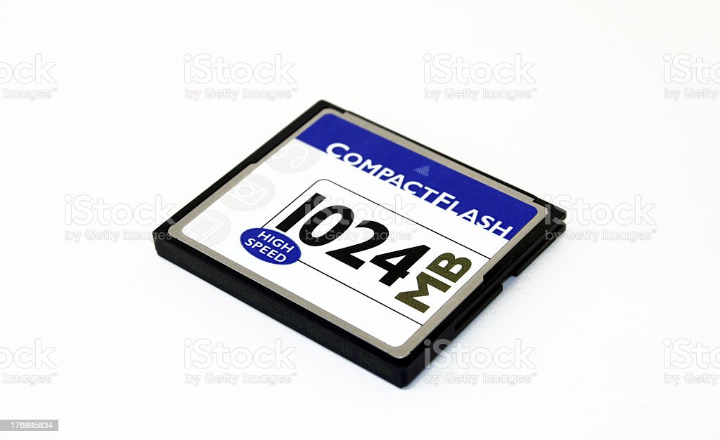 Compact flash memory card royalty-free stock photo
