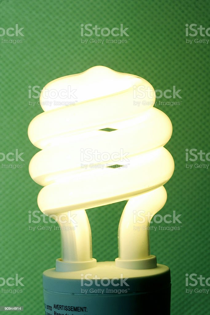 compact florescent bulb stock photo