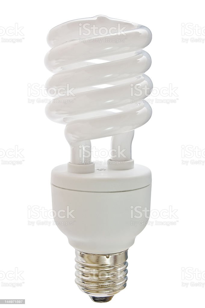 compact florescent light bulb stock photo