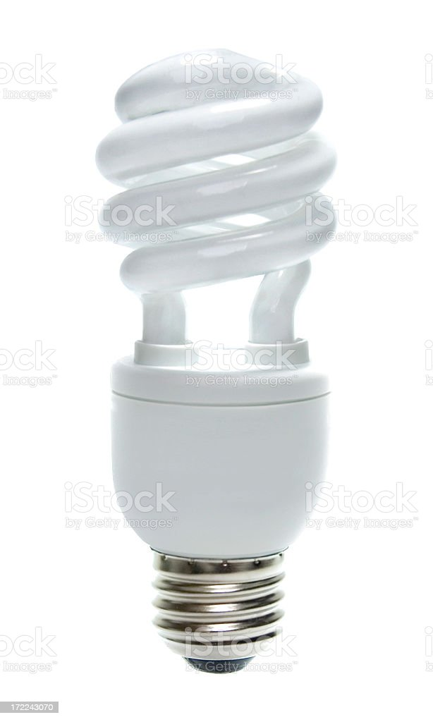 Compact Florescent Light Bulb royalty-free stock photo
