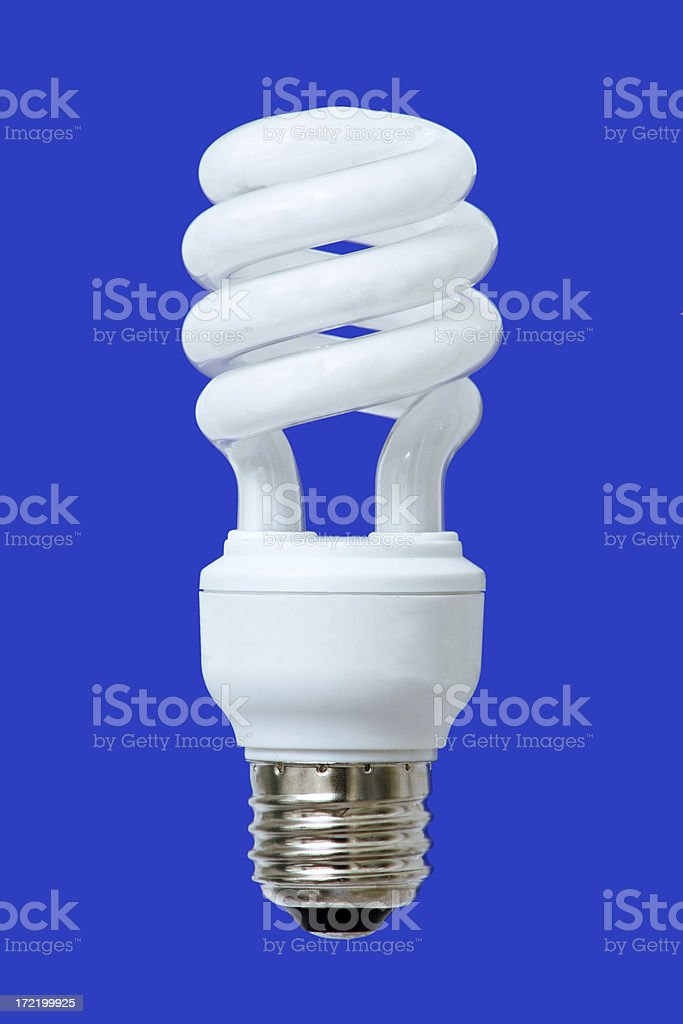 Compact Flourescent Light Bulb royalty-free stock photo