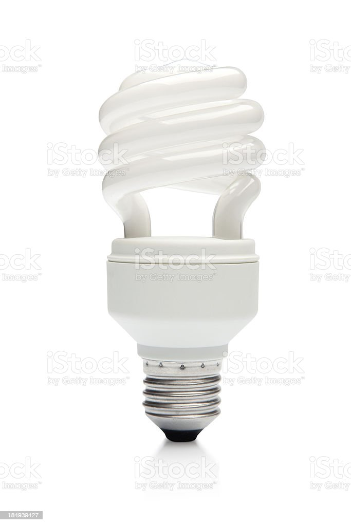 Compact Flourescent Light Bulb stock photo