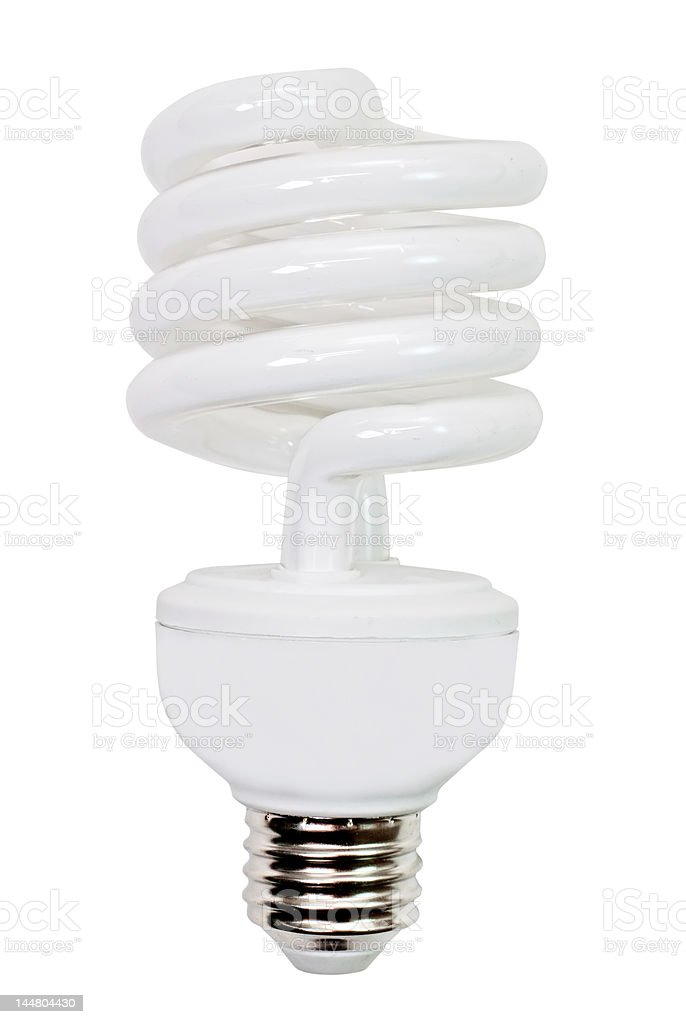 Compact Fluorescent Light Bulb Isolated royalty-free stock photo