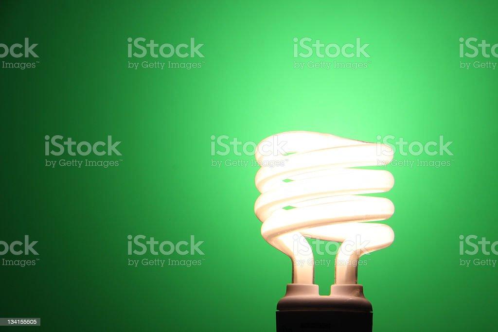 Compact Fluorescent Lightbulb royalty-free stock photo