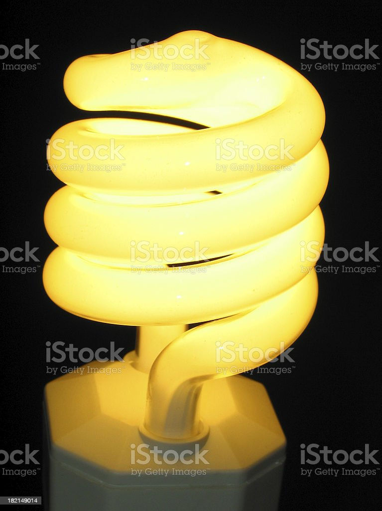 compact fluorescent twist royalty-free stock photo