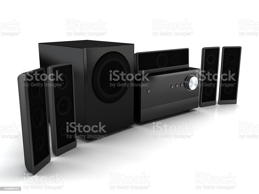 Compact home theater system royalty-free stock photo