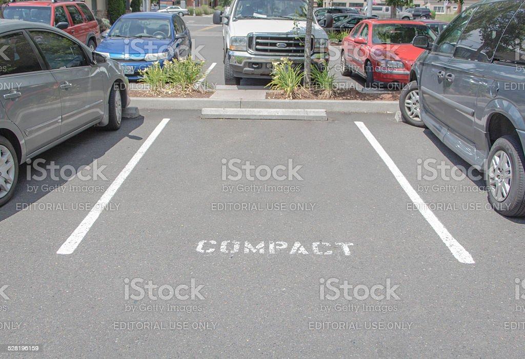Compact Parking Spot stock photo