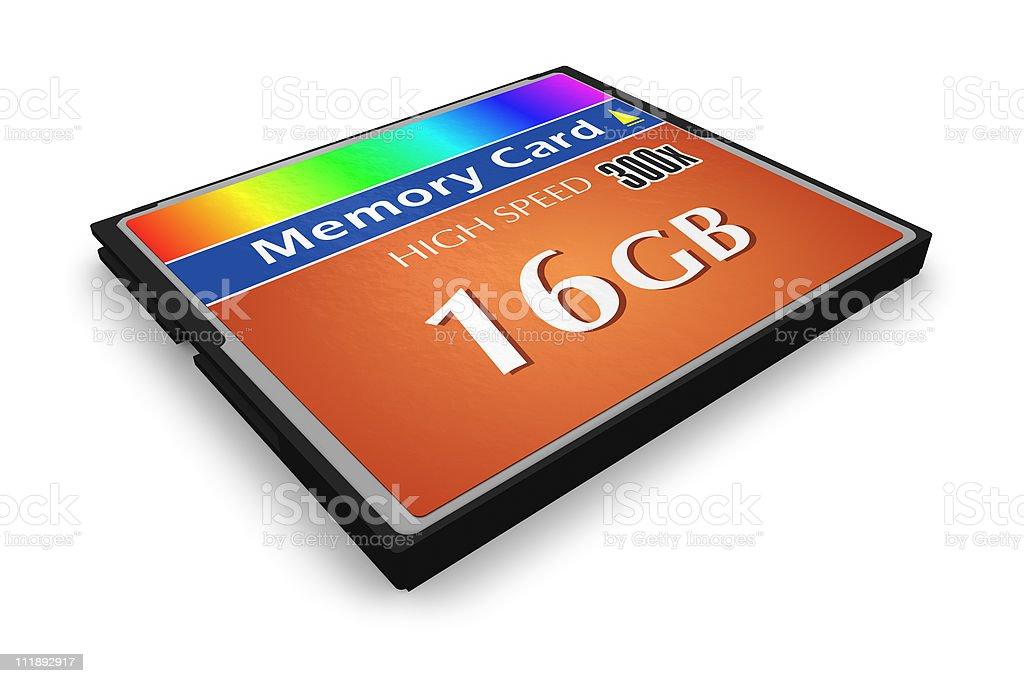 CompactFlash memory card royalty-free stock photo