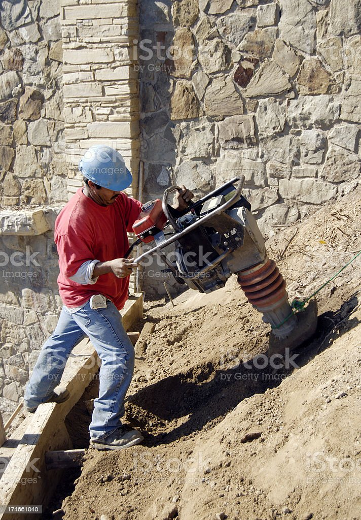 Compacting stock photo