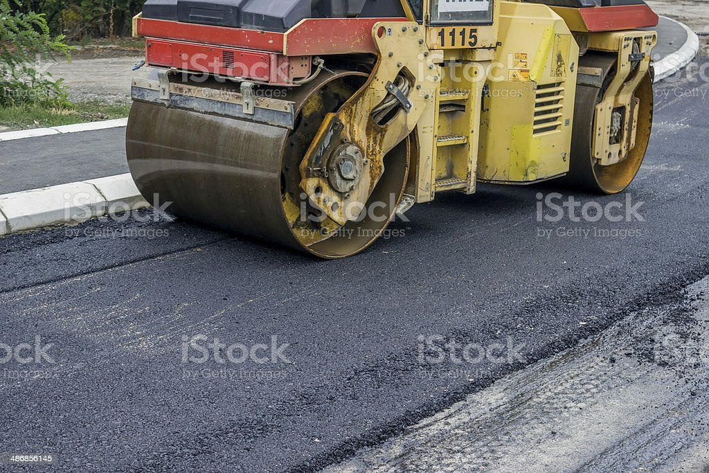 compactor roller 2 stock photo