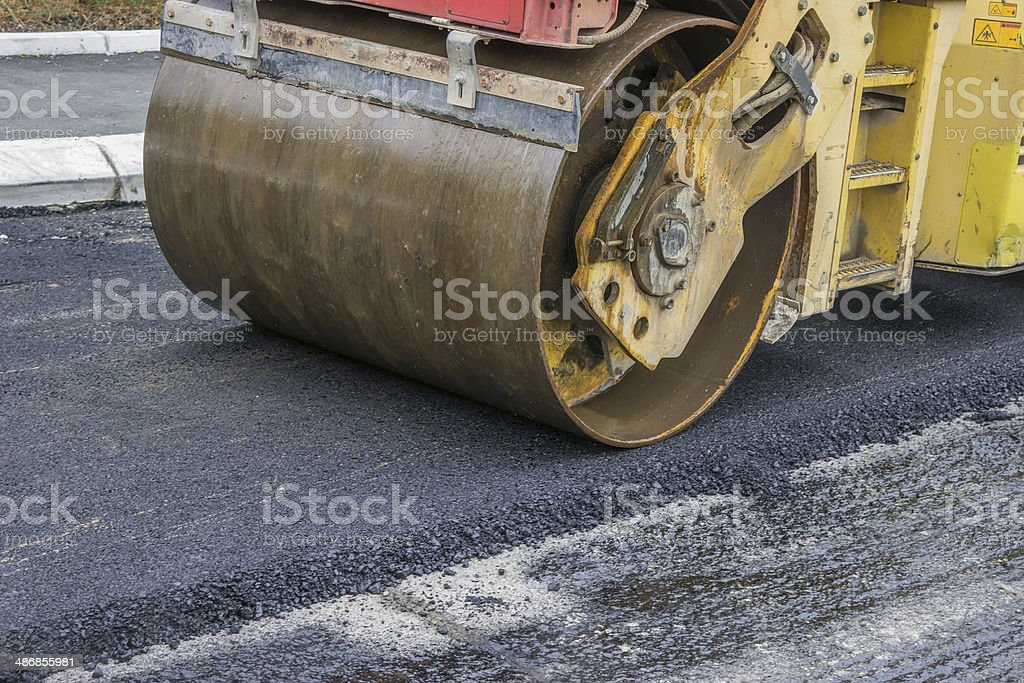 compactor roller stock photo