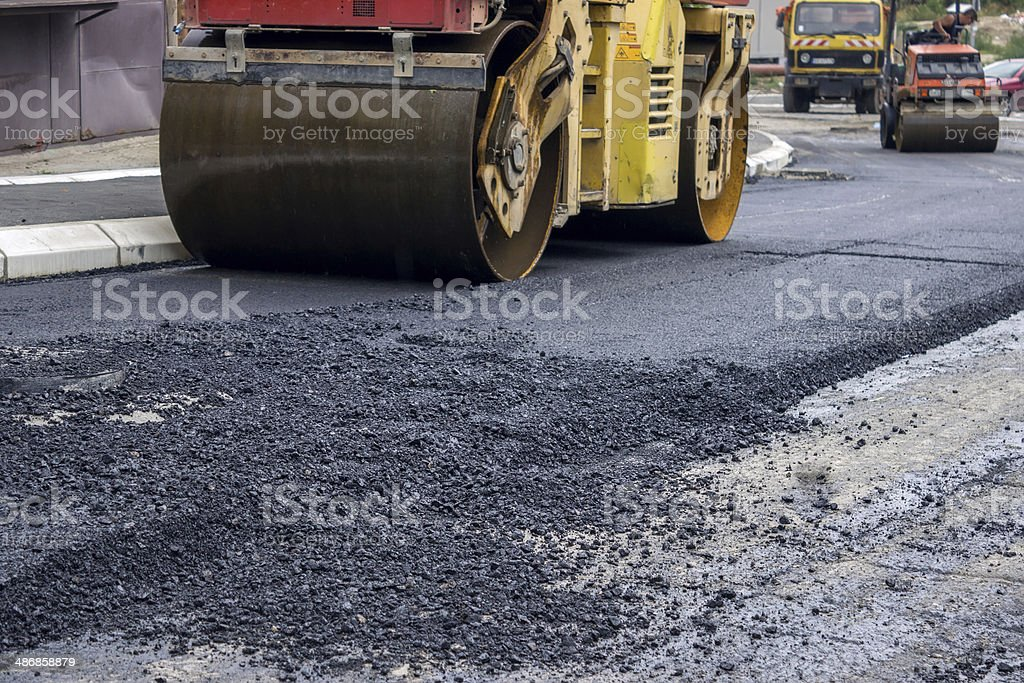 compactor rollers stock photo
