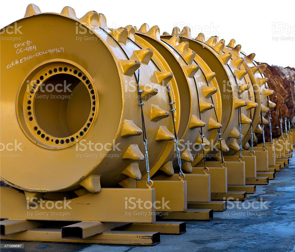 Compactor Wheels stock photo