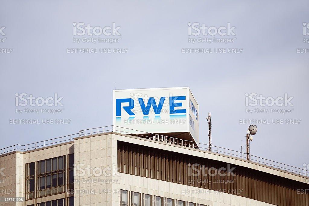 RWE company stock photo