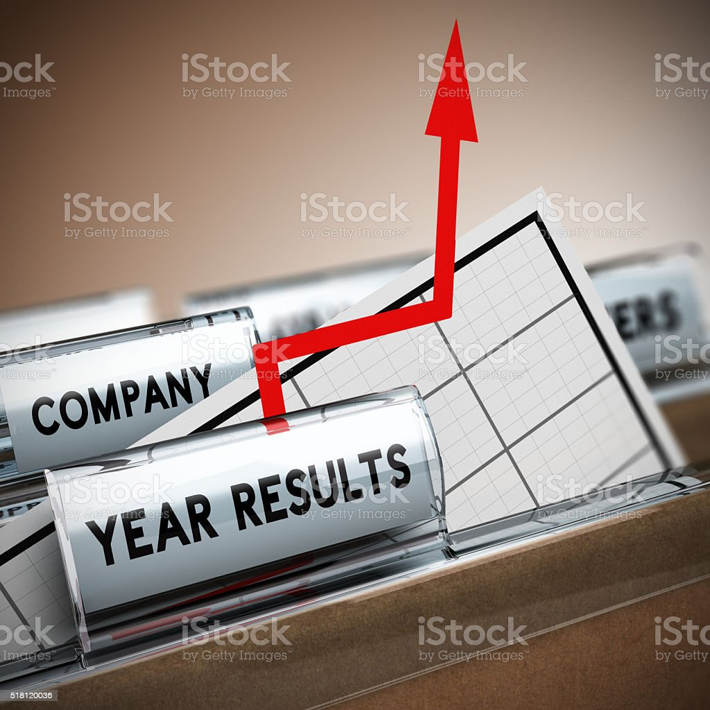 Company Results Improvement stock photo