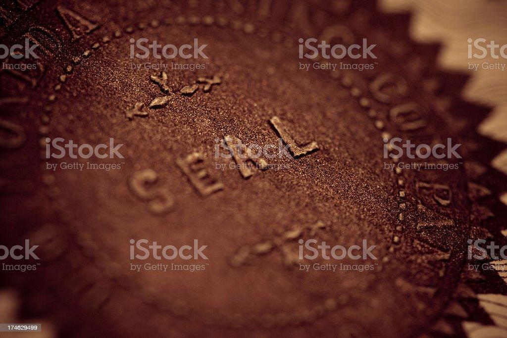 Company Seal stock photo