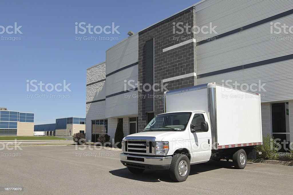 Company service truck stock photo