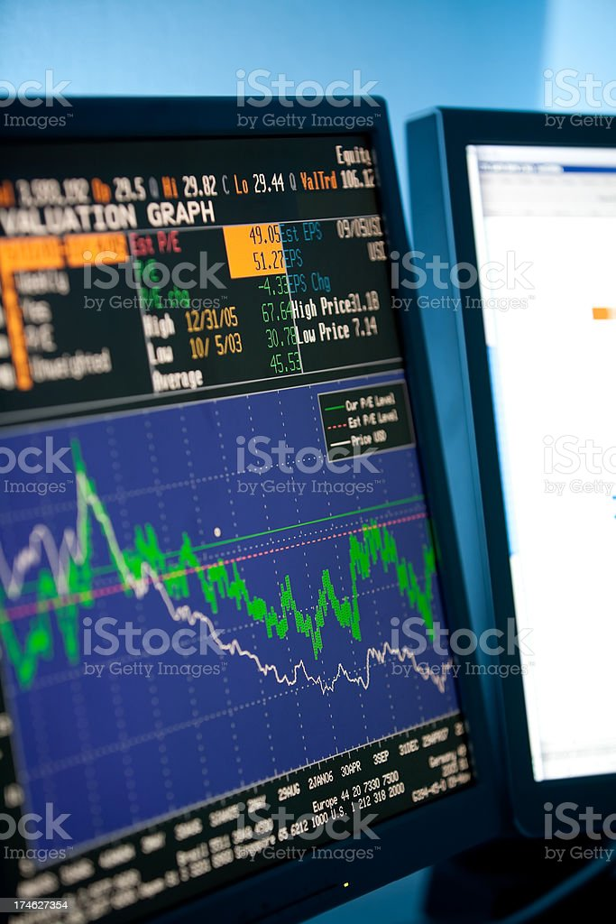 Company share price information royalty-free stock photo
