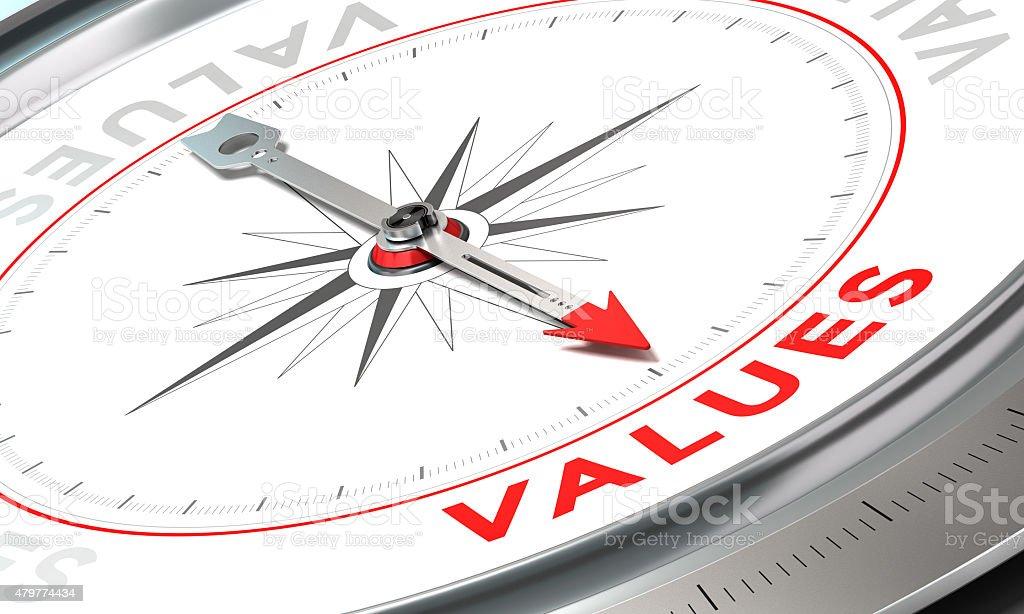 Company Statement, Values stock photo