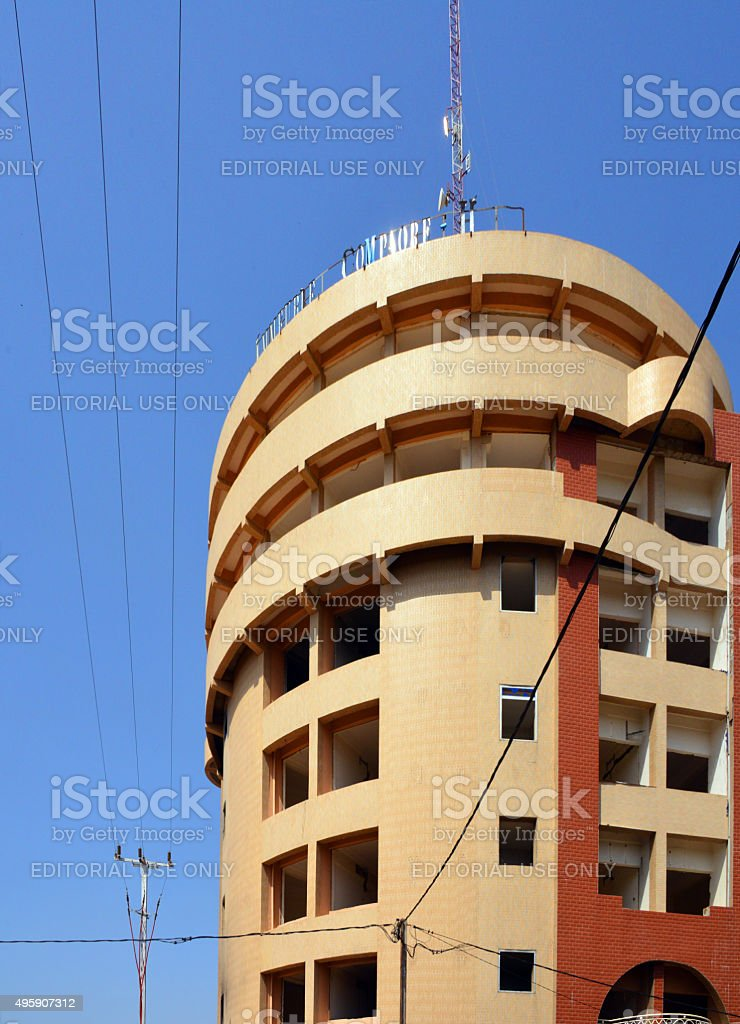 Compaoré building, Ouagadougou, Burkina Faso stock photo