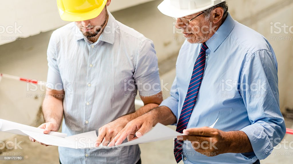 Compare both plans stock photo