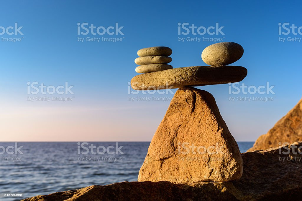 Compare of stones stock photo