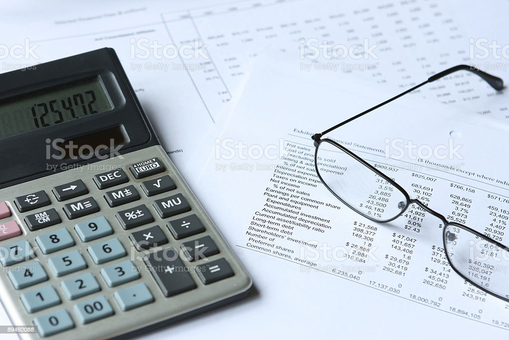 Comparing financial results royalty-free stock photo