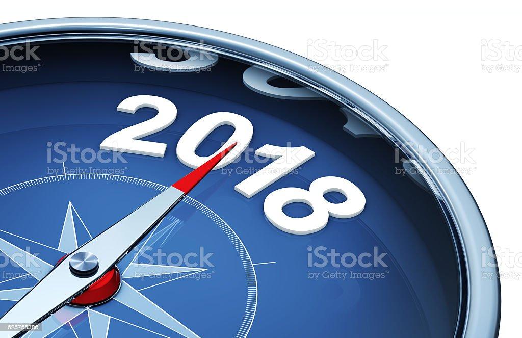 compass 2018 stock photo