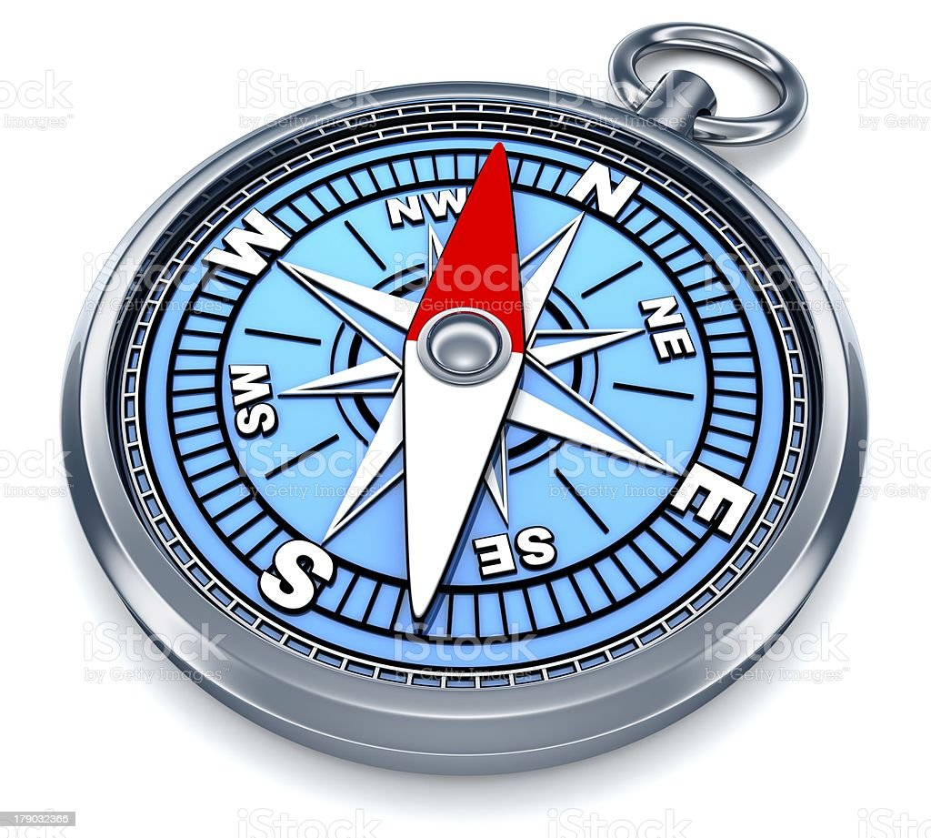 Compass 3d royalty-free stock photo
