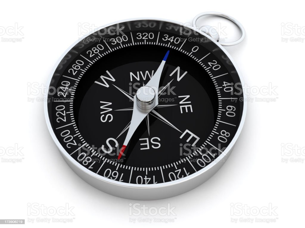 Compass against white background royalty-free stock photo