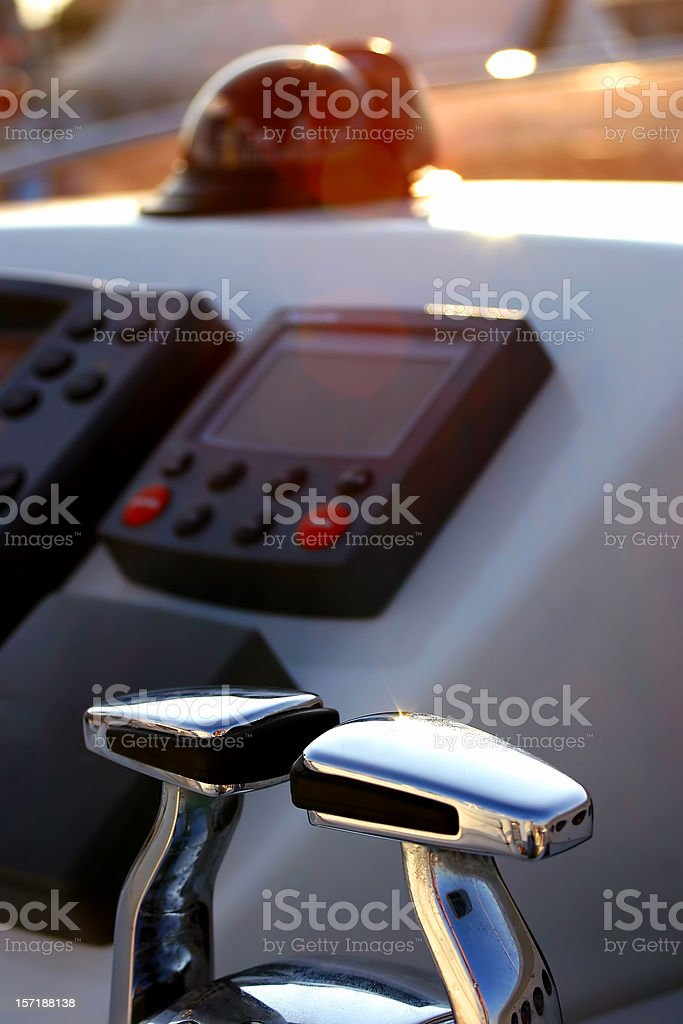 Compass and cruise control - color royalty-free stock photo