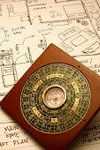 compass and floorplan