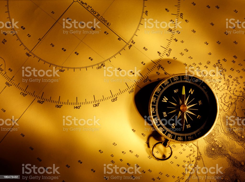 Compass Bearings stock photo