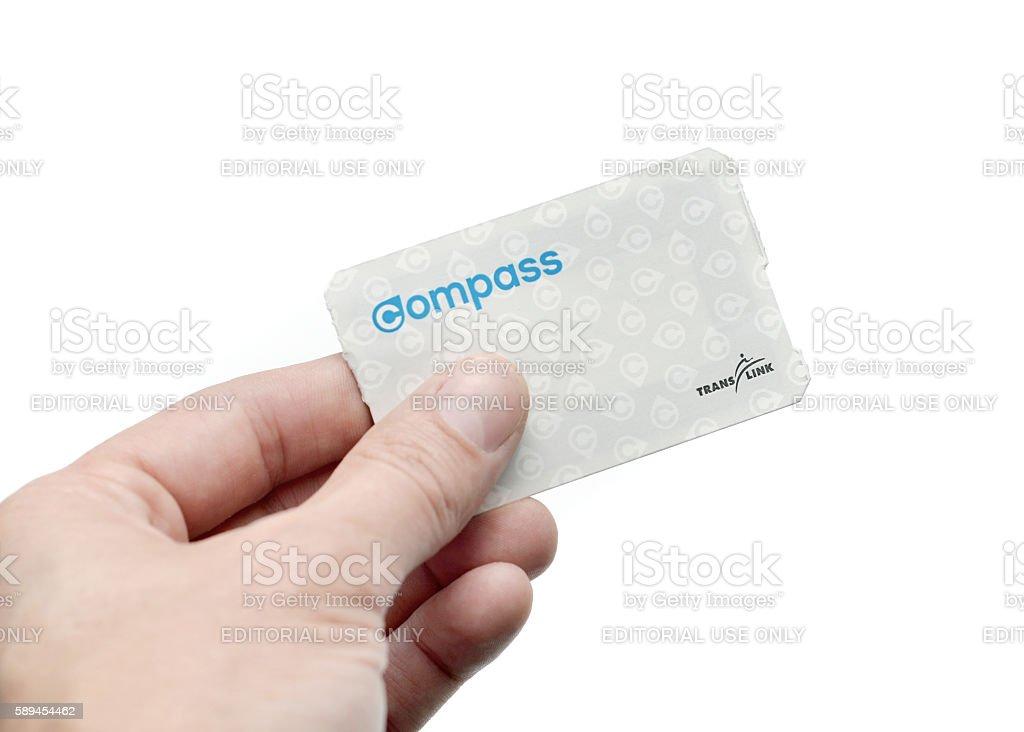 Compass Card stock photo