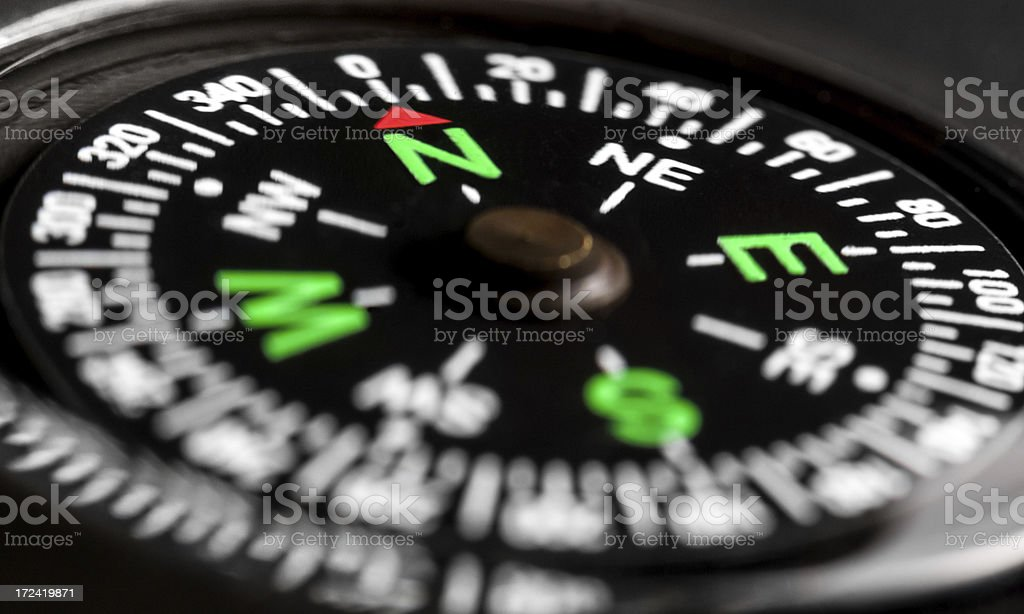 Compass close up royalty-free stock photo
