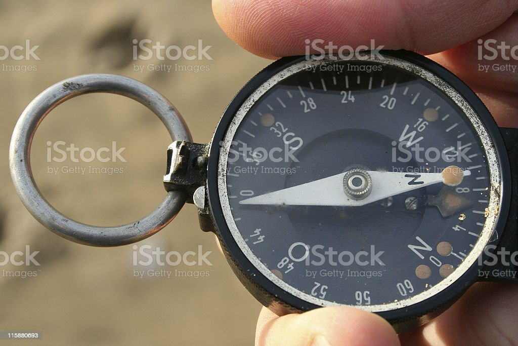 compass close-up royalty-free stock photo