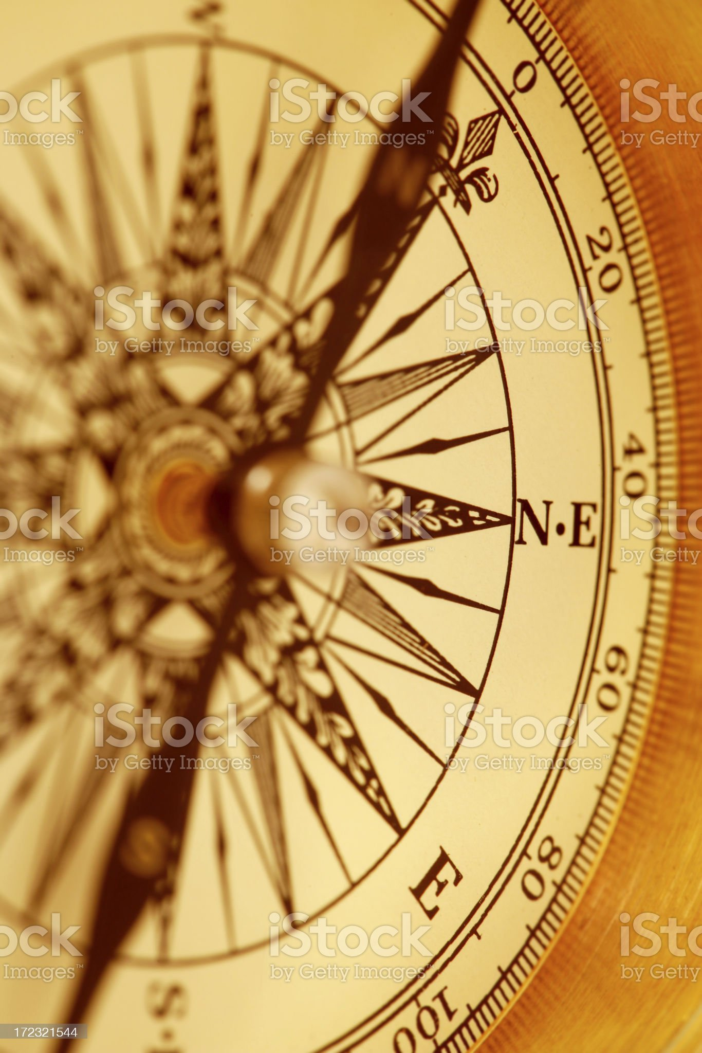 Compass Closeup royalty-free stock photo