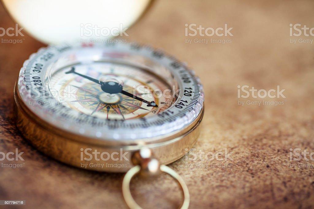 Compass Close-up stock photo
