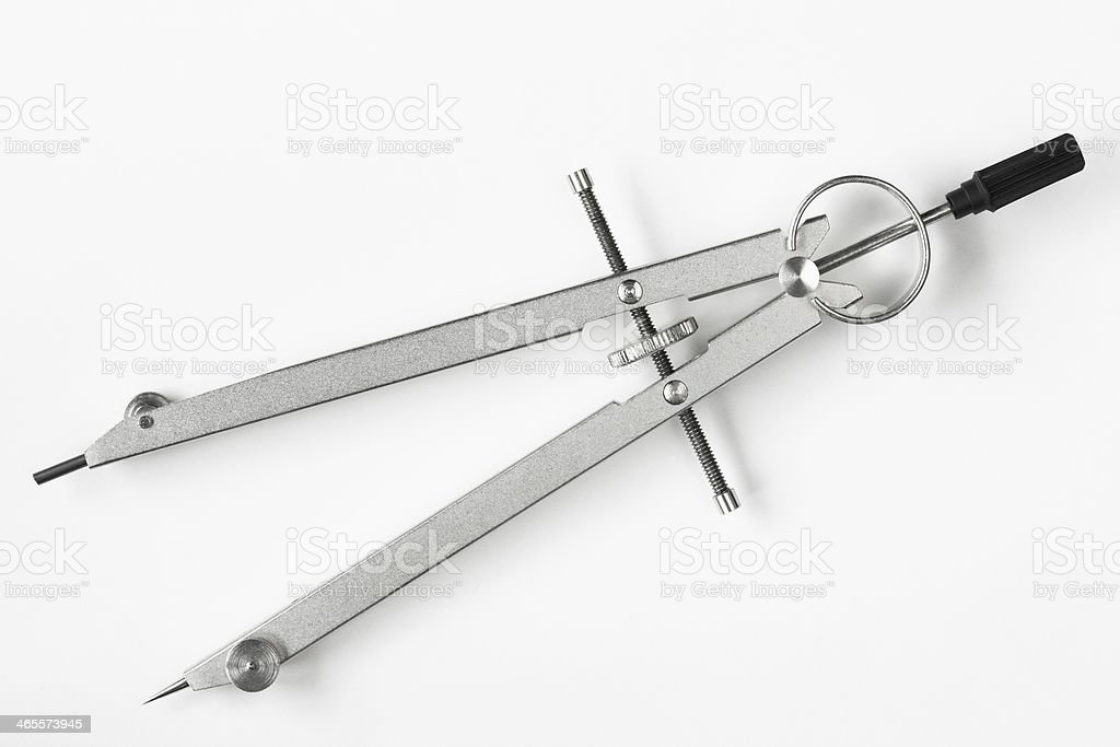 Compass Drafting Drawing Work Tool royalty-free stock photo