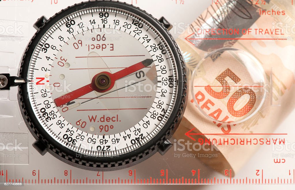 Compass, finding your direction stock photo