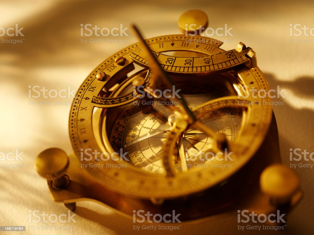 Compass for Nautical Navigation stock photo