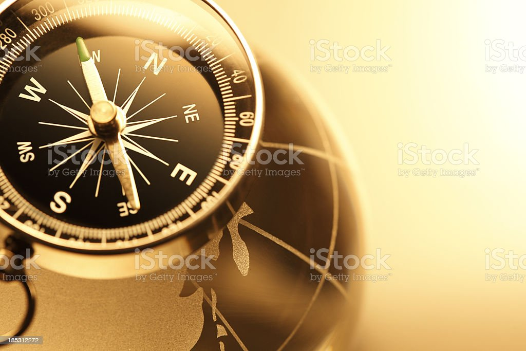 Compass & Globe royalty-free stock photo