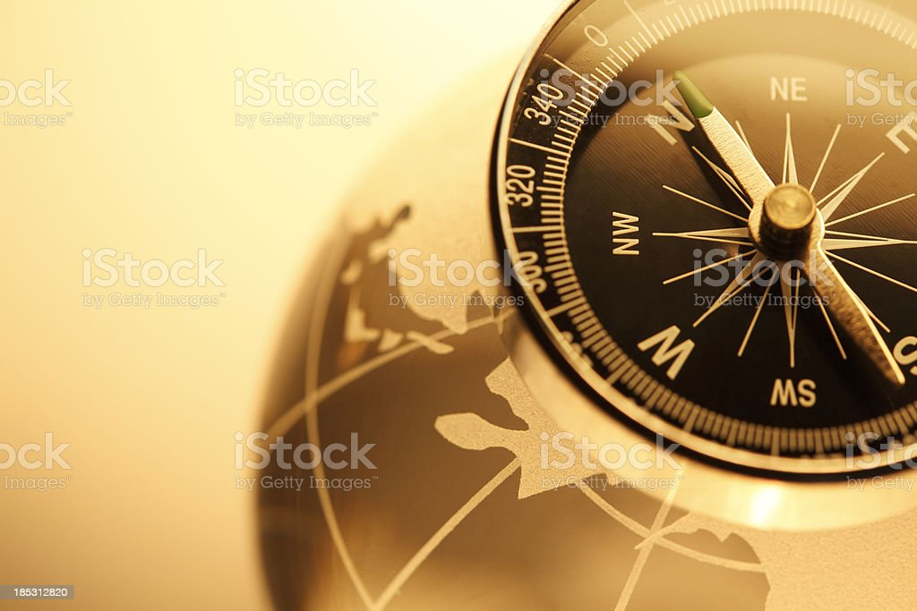 Compass & Globe royalty-free stock photo
