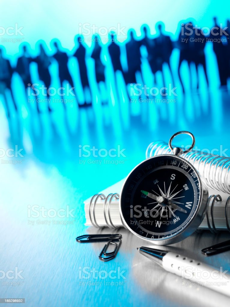 Compass Guidance for a Business Team royalty-free stock photo