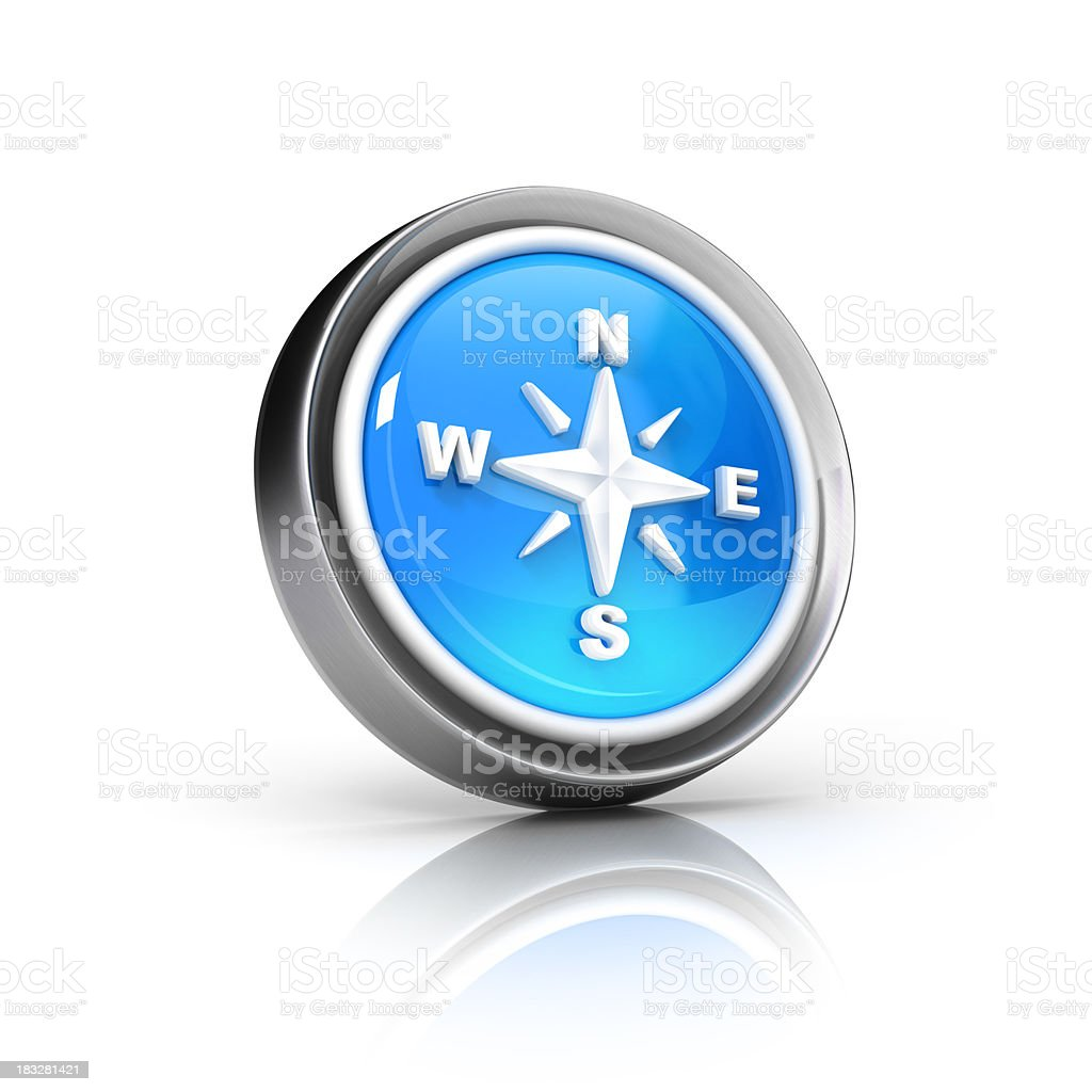 Compass Icon royalty-free stock photo