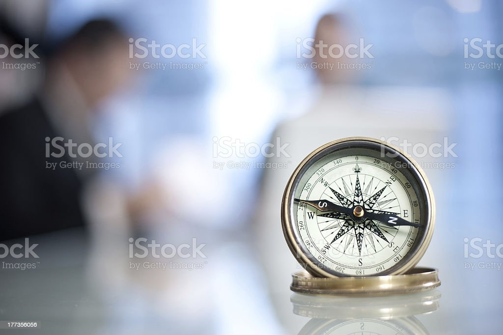 Compass in an Office stock photo